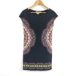 Maggy London Sleeveless Shift Dress Paisley 3742